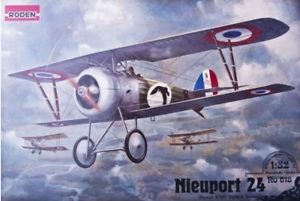 Roden-618-Nieuport-24-French-German-Fighter-1-32-Scale-Model-Kit-183-mm
