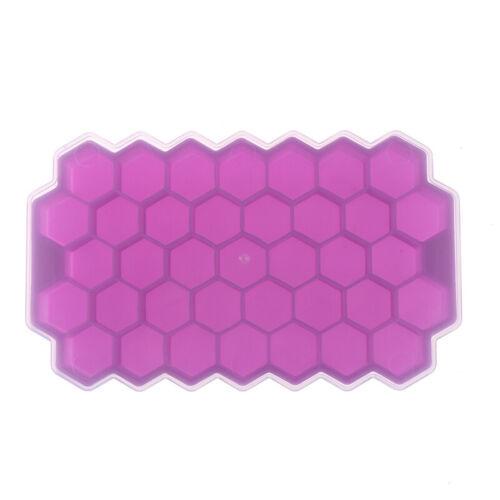 Moule à glaçons en nid d/'abeille en silicone avec couvercle HH