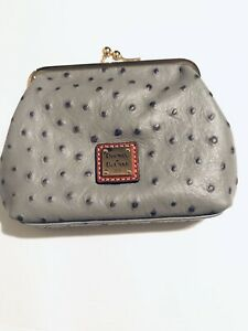 Dooney-amp-Bourke-Ostrich-Large-Frame-Coin-Purse-in-Grey