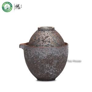 Handmade-Wood-Fired-Ceramic-Portable-Gongfu-Tea-Cup-Gaiwan-Teapot-Travel-Set