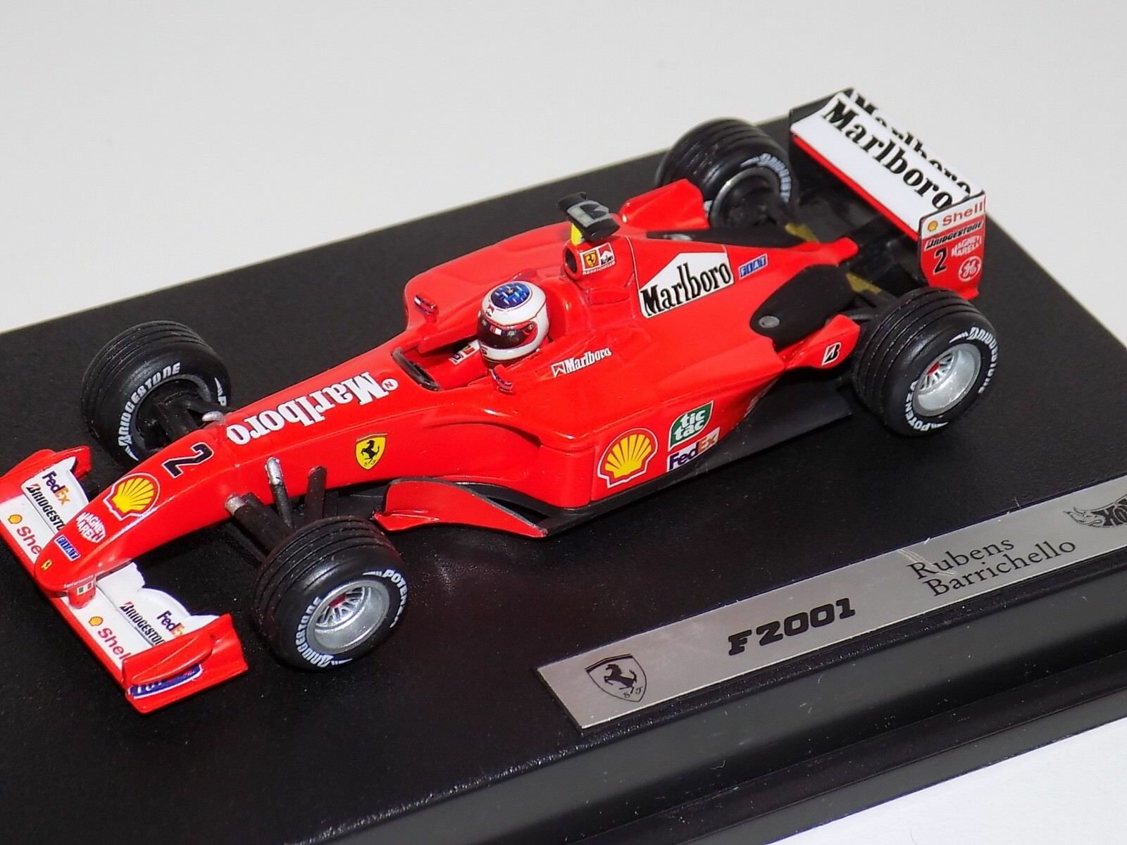 1 43 Mattell Hot Wheels F1 Constructors WC Ferrari F2001 Barrichello Marlbgold