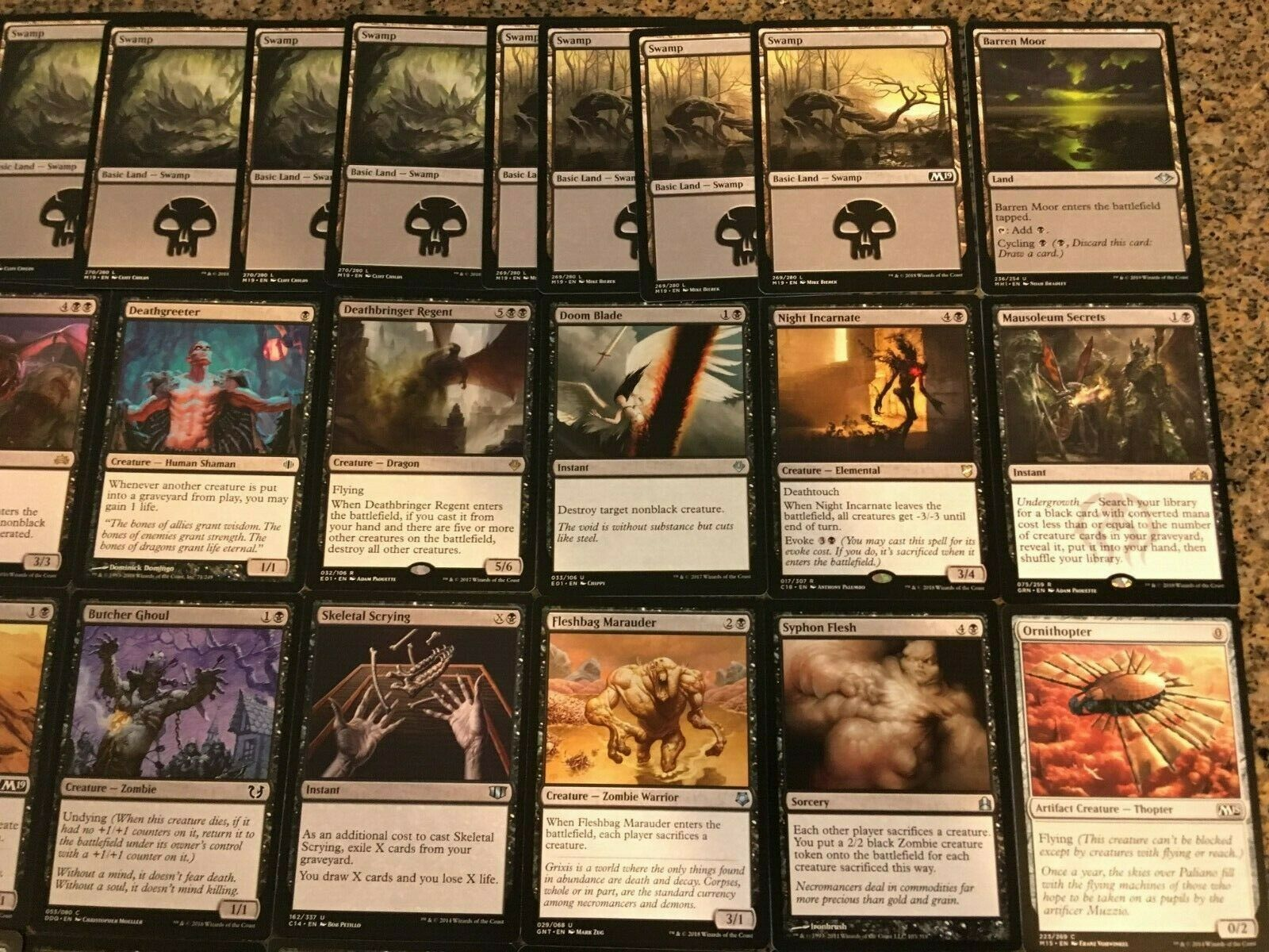 Custom Commander Deck Yawgmoth Thran Physician Edh Mtg Magic