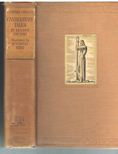 Geoffrey-Chaucer-Canterbury-Tales-Ill-by-Rockwell-Kent-1934-Rare-Book