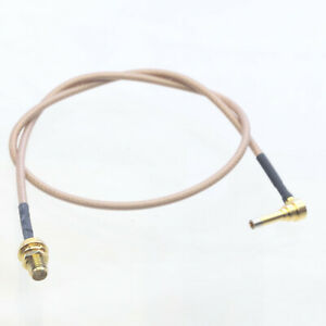Ms-156 ms156 Plug Macho A Rp-sma Hembra Sonda rg178 Cable conduce 35cm