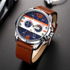 Fashion-CURREN-Army-Military-Watch-Male-Leather-Band-Analog-Quartz-Wristwatches