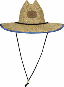 f1992467707 Image is loading Quiksilver-Mens-Outsider-Lifeguard-Hat-Straw-Brown-Blue-