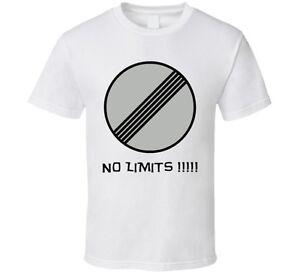 No Speed Limit Sign Autobahn Germany T Shirt | eBay