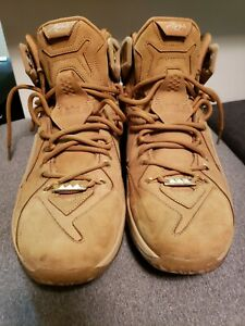 the latest 83142 55968 Image is loading Nike-LEBRON-XII-Ext-QS-Wheat-Suede-8-