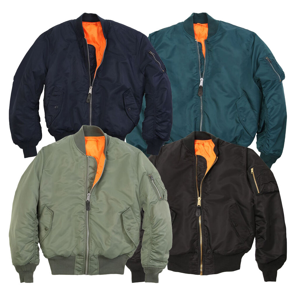 4c2a142b89f56 Alpha Industries Ma1 Classic Genuine Bomber Jacket Rep Blue XL for sale  online
