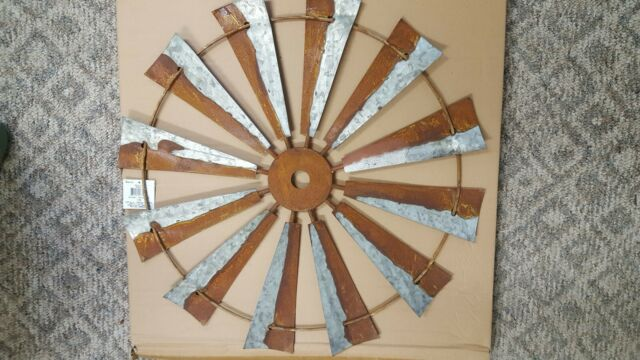 WINDMILL new large tin Country wall hanging
