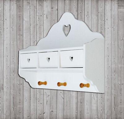 Regal Wandregal Schrank Hängeschrank  Aufbewahrung Weiß Holz 316