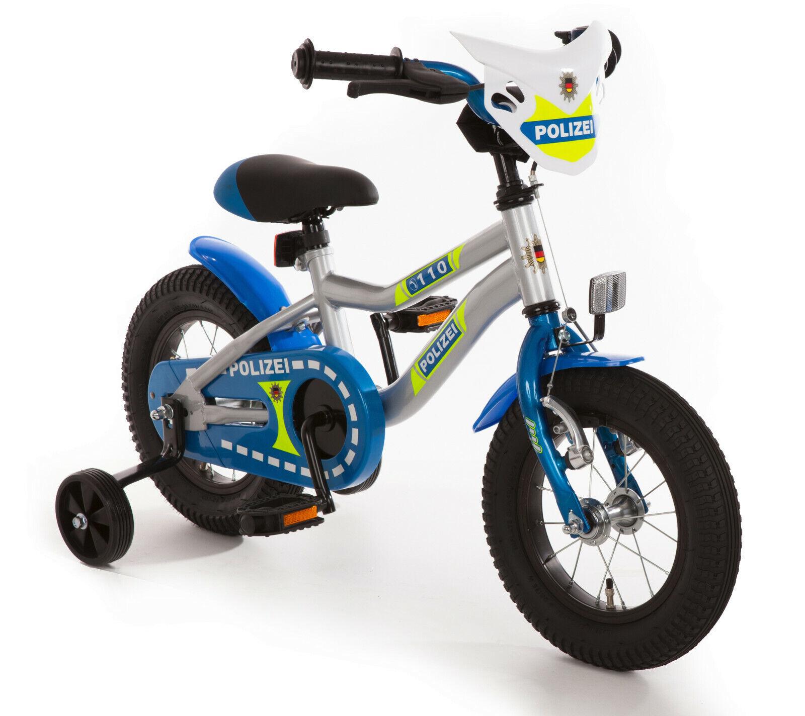 Bachtenkirch Kinder Fahrrad Kuma Polizei 12 Zoll inkl. Stützräder 540-PZ-40