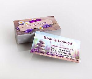 Details Zu 1 000 Visitenkarten Beauty Massage Premiumqualität Direkt Hier Gestalten