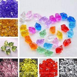 Acrylic crystal aquarium fish tank stone 160pcs stones for Aquarium vase decoration