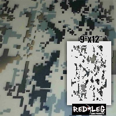 Redleg Camo Products 12x9 Digital camo stencil airbrush camouflage