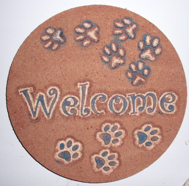 Dog plaque plastic mold for plaster concrete mould