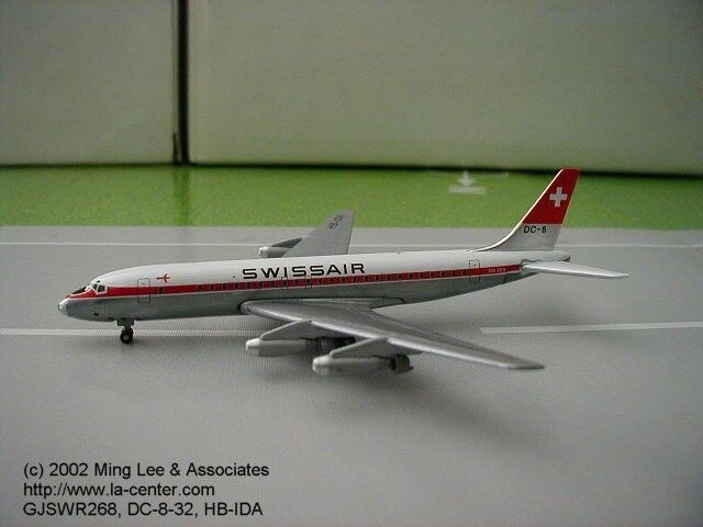 Gemini Jets Swissair Douglas DC-8-32 in Old color Diecast Model 1 400