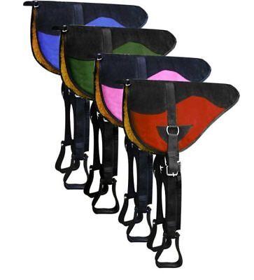 Showman Colorful BAREBACK Saddle PAD with Kodel Fleece Bottom GIRTH /& STIRRUPS
