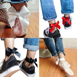 Fish Net Short Women Lace Ankle Fishnet Socks High Socks Ruffle Bow Mesh Fashion