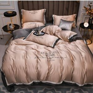 Smooth Satin Silk Fitted Bed Sheets Single Double King Size Bed Cover VARIOUS