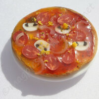 Doll House 12th Scale : Pepperoni Pizza : Handmade Food