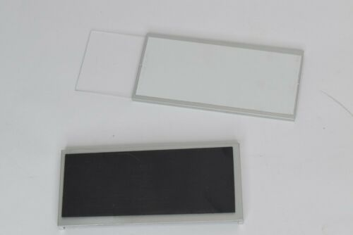"""Lot 5x Magnetic 2 Piece Office Door Name Plate Sign Nameplate Holder 2/"""" x 4.5/"""""""
