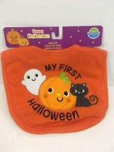 Orange NEW Halloween Baby Bib My 1st Halloween Pumpkin