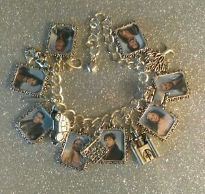 Image Is Loading Silver Plated Charm Bracelet Charms Once Upon A
