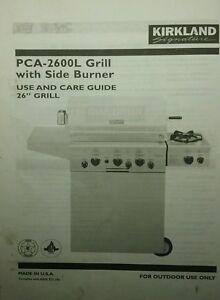 Outdoor BBQ Grill PCA-2600L Kirkland Signature Operator ...