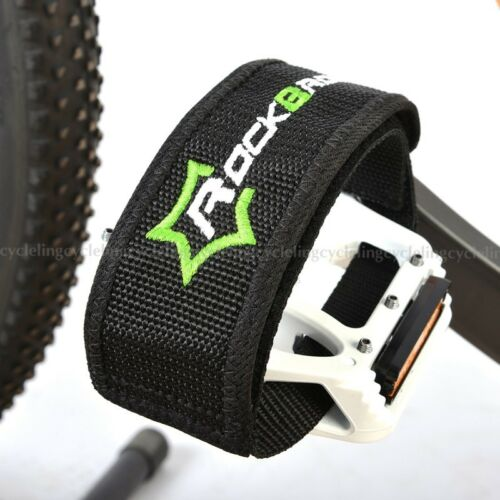 ROCKBROS Cycling Pedals Band Feet Set With Strap Beam Foot Black 1 pair