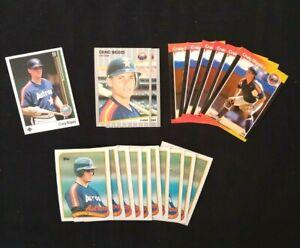 Craig Biggio Rookie RC Lot 19 CARDS 89 Houston Astros 1989 Fleer UD Topps