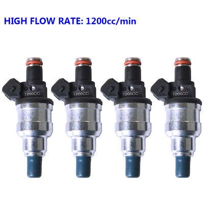 4x 1200cc Modified Fuel Injector for Honda Ls ITR SI RDX EG EF EK Precision K24