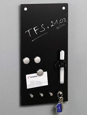 Schwarz Glas Magnettafel Memoboard Whiteboard Memobord Glastafel