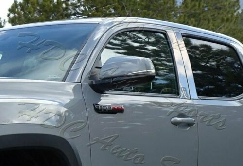 For 2016-2019 Toyota Tacoma Stainless Polish Mirror Chrome Door Pillar Trim 4PCS