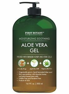 Pure Aloe vera gel - with 100% Fresh & Pure Aloe Infused with Stem Cells, Collag