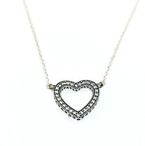 Image is loading Genuine-Authentic-Pandora-Loving-Hearts-Of-PANDORA-Necklace - 24c838fb0c4