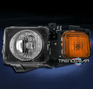 H3T REPLACEMENT HEADLIGHT HEADLAMP LAMP BLACK CLEAR LENS FOR 06-10 HUMMER H3//09
