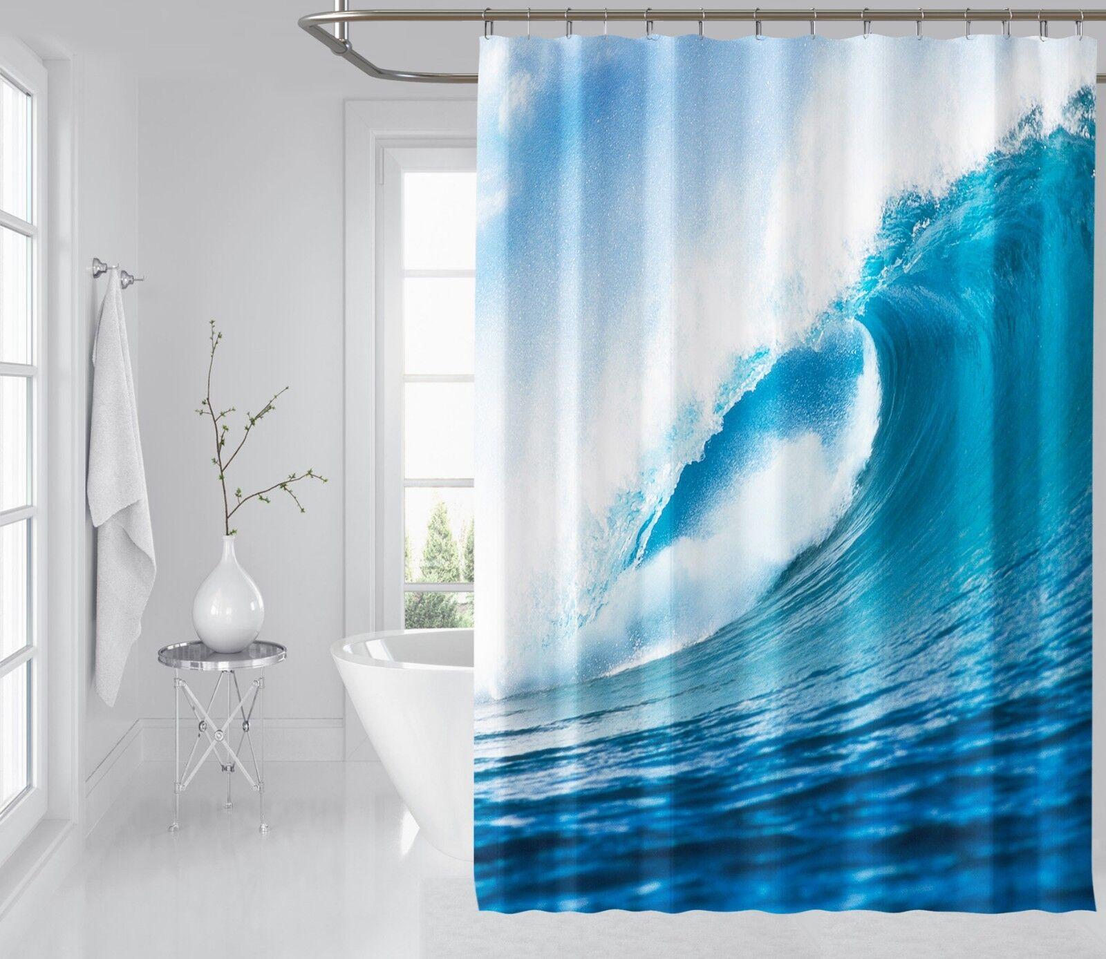 3D mer peinture 89 Rideau de Douche Imperméable Fibre Salle de Bain Home Windows Toilette