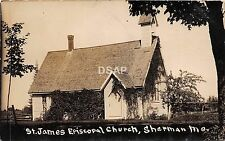 A37/ Sherman Missouri Mo Real Photo RPPC Postcard c'10 St James Episcopal Church