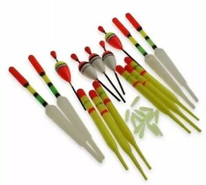 Lure-King-set-15-various-size-fishing-floats-large-medium-sizes-amp-float-rubbers