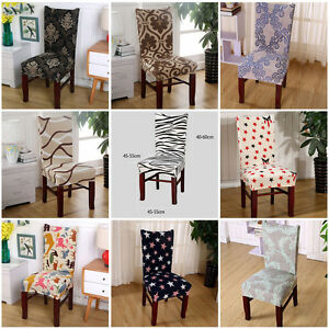Chair Cover Dining Room Wedding Banquet Party Decor Seat Cover ...