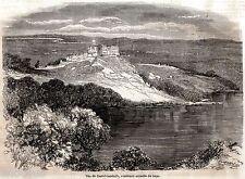 CASTEL GANDOLFO: PALAZZO PONTIFICIO E LAGO D'ALBANO. Castelli Romani. Roma. 1859