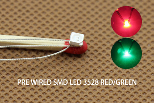 DT3528RG 20pc Presoldered litz wired leads Bicolor REDGREEN SMD Led 3528 DUAL