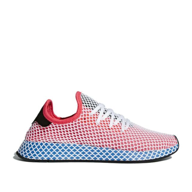 942c3083ee54f Mens adidas Deerupt Runner Solar Red Blue Bird White Black CQ2624 US ...