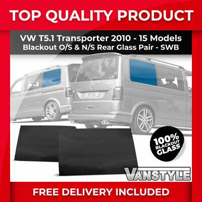 VW T5 Transporter SWB Full set of FIXED Side Windows VW T5 Fixed Window Set