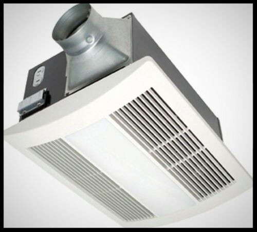PANASONIC Bath Ceiling Exhaust Fan 100 cfm Light Kit Heater Quiet Bathroom Vent