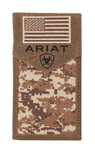 Ariat Wallet Digital Camo Flag Print Rodeo Wallet A3536444