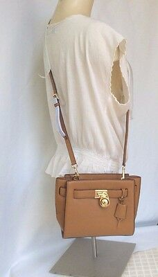 NWT Michael Kors Brown Leather Hamilton Traveler Messenger Crossbody Bag $ 298