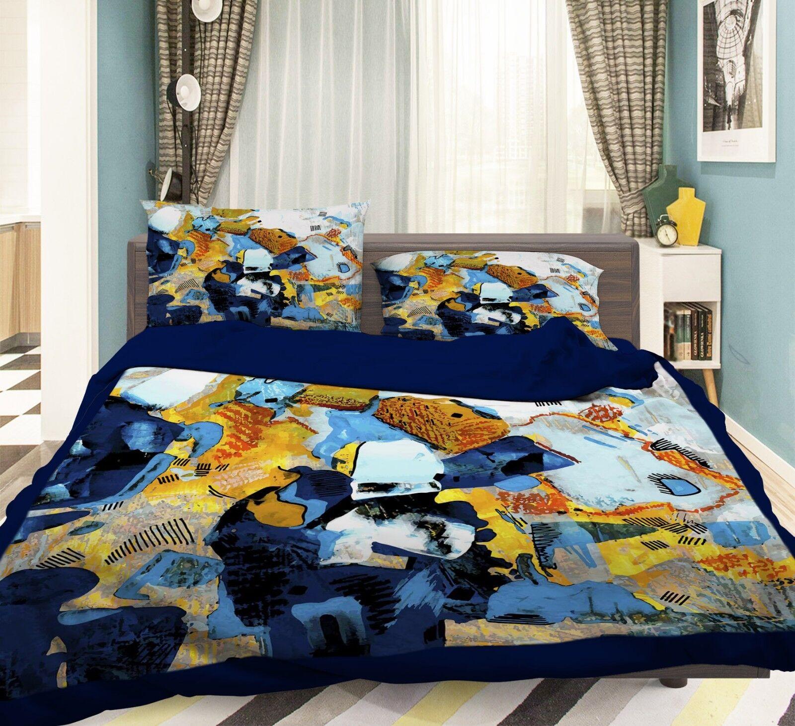 3D Art Graffiti 688 Bed Pillowcases Quilt Duvet Cover Set Single Queen AU Carly