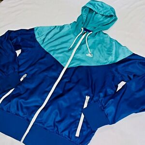 RARE Vintage Nike Wind Runner Windbreaker Blue Pink Nylon